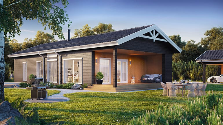 FJORDRIKE 3 bed house external render